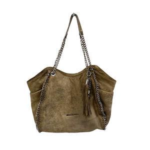 MICHAEL Michael Kors Tan Distressed Leather Bag